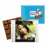 Chocolate ritter sport 100g with promotional sleeve - Premiumgids