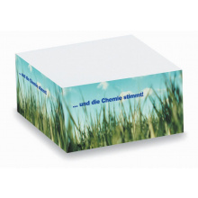 Memoblok 10 x 10 x 5 cm full colour - Topgiving