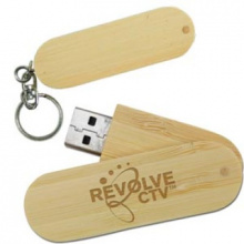 Duurzame bamboe twister USB stick - Topgiving