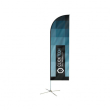 Feather beachvlag 40 x 240 cm - Premiumgids