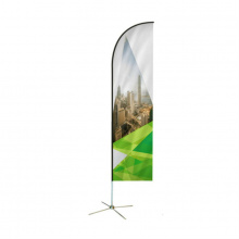 Feather beachvlag 65 x 315 cm - Topgiving