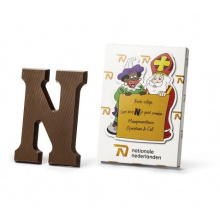 Chocolade letter in custom made doos - Topgiving