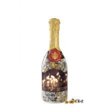 Champagne fles metallic sweets - Topgiving