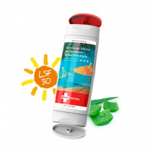 2 in 1 tube zonnebrandcrème met after sun, handreinigingsgel of douchegel - Topgiving