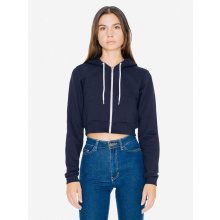 Ama sweater hooded zip cropped flex fleece for her - Topgiving