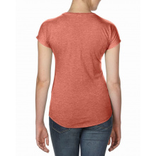 Anvil t-shirt v-neck triblend ss for her - Topgiving