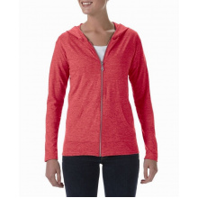 Anvil tri-blend full-zip hooded jacket for her - Premiumgids