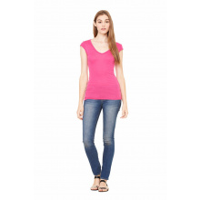 Bel+can t-shirt sheer v-neck  ss - Premiumgids