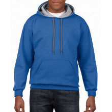 Gildan sweater hooded contrast heavyblend - Topgiving