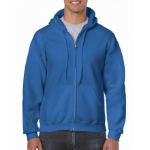 Gildan sweater hooded full zip heavyblend for him - Topgiving
