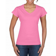 Gildan t-shirt v-neck softstyle for her - Premiumgids