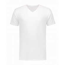 L&s t-shirt v-neck fine cotton elasthan - Topgiving