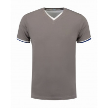 L&s t-shirt double-v cot/elast ss for him - Premiumgids