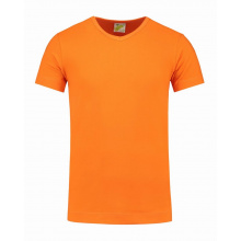 L&s t-shirt v-neck cot/elast ss for him - Topgiving
