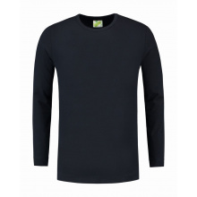 L&s t-shirt crewneck cot/elast ls for him - Premiumgids