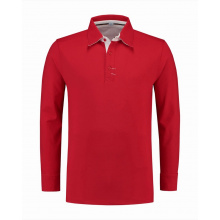 L&s polo cot/elast ls for him - Premiumgids