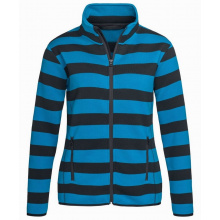 Stedman polar fleece cardigan striped for her - Topgiving