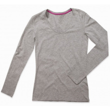 Stedman t-shirt v-neck claire ls for her - Topgiving