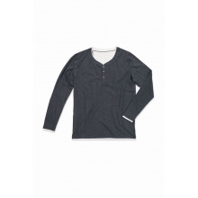 Stedman t-shirt henley luke ls for him - Topgiving