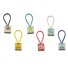 Rubberband sleutelhanger met doming tot full colour bedrukt - Topgiving