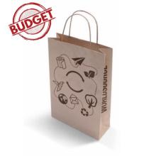 64d09ff0376 Budget papieren kraft tas 24 x 9 x 24 cm (wit) bedrukken | Topgiving.nl