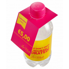 Flap over kaartje 330 ml bronwater - Premiumgids