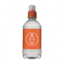 Bronwater recycled pet 330 ml met sportdop - Topgiving