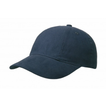 Brushed 6 panel cap, turned top - Premiumgids
