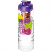 H2o treble 750 ml drinkfles en infuser met kanteldeksel - Topgiving