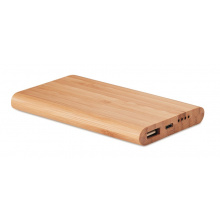 Bamboe powerbank 4000 mah - Topgiving