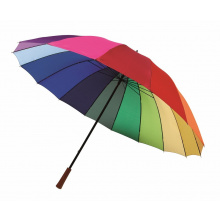 Golf umbrella 16 panels rainbow sky - Premiumgids