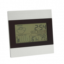 Weerstation met alarm en aluminium cover shiny day - Topgiving