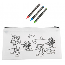 Pen-etui colourful school - Topgiving