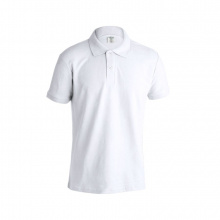 "Volwassene wit polo shirt ""keya"" - Topgiving"