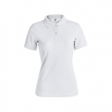 "Dames wit polo shirt ""keya"" - Topgiving"
