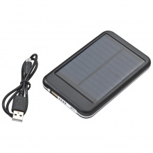 Solar metalen powerbank - Topgiving