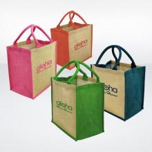 Gekleurde jute shopping bag - Premiumgids