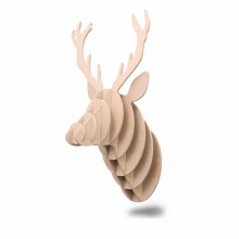 Wooden deer head - Premiumgids