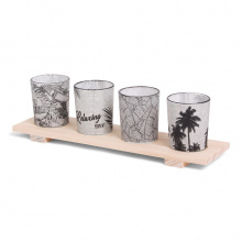 Senza urban jungle candle light tray - Topgiving