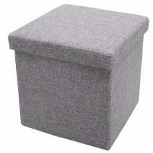 Foldable storage pouffe grey - Premiumgids