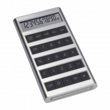 Solarcalculator machine black - Topgiving