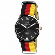 Polshorloge fashion deutschland black red yellow - Premiumgids