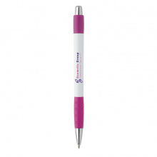 Witte striped grip pen - Premiumgids