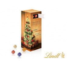 Tower adventskalender with mini chocolate balls lindt - Premiumgids