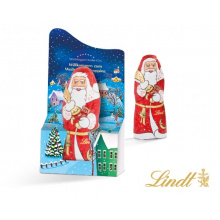 Lindt santa claus 10g in promotional display - Premiumgids