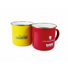 Enamel colourcoat mug - Topgiving