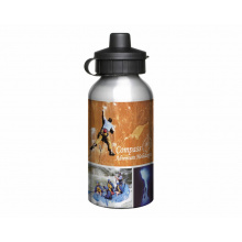 Aluminium 400ml silver drink bottle - Premiumgids
