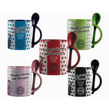 Duraglaze 11oz soup & spoon two tone photomug - Premiumgids