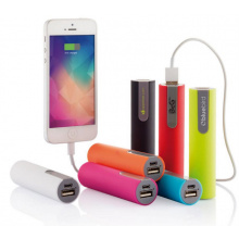 Cilindervormige powerbanks - Topgiving