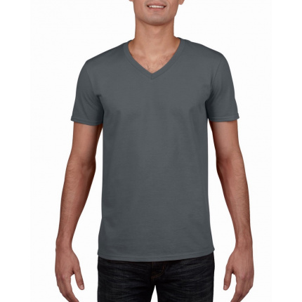 Gildan t-shirt v-neck softstyle for him - Premiumgids